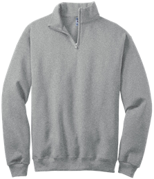 NuBlend® Quarter-Zip Cadet Collar Sweatshirt