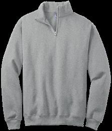 Quarter-Zip Cadet Collar Sweatshirt