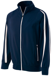 100% Poly Agil-Knit Full Zip Determination Jacket