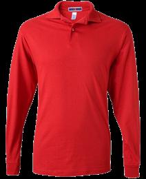 Long-Sleeve Jersey Polo